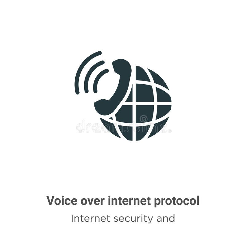 Voice over internet protocol vector icon on white background. Flat vector voice over internet protocol icon symbol sign from royalty free illustration