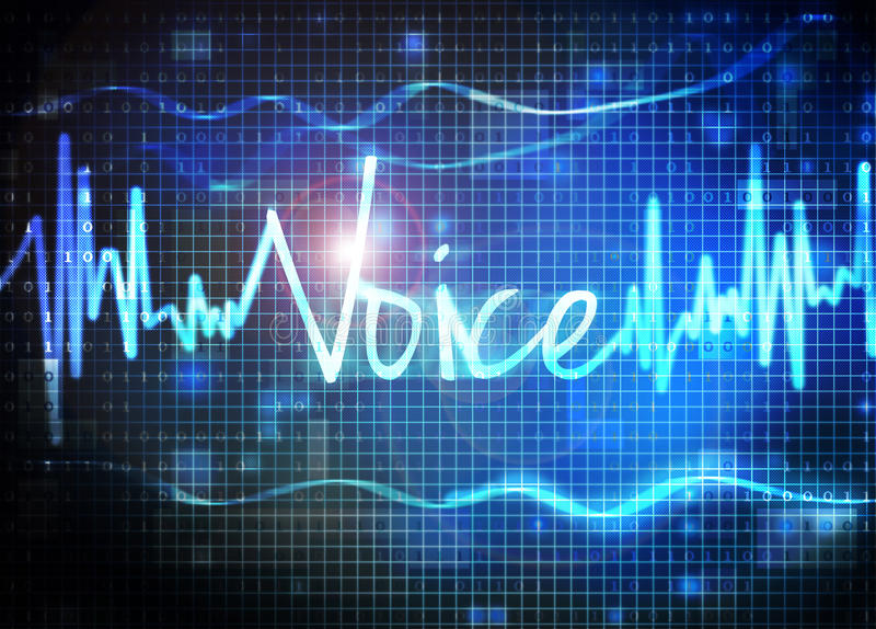 Voice recognition stock illustration