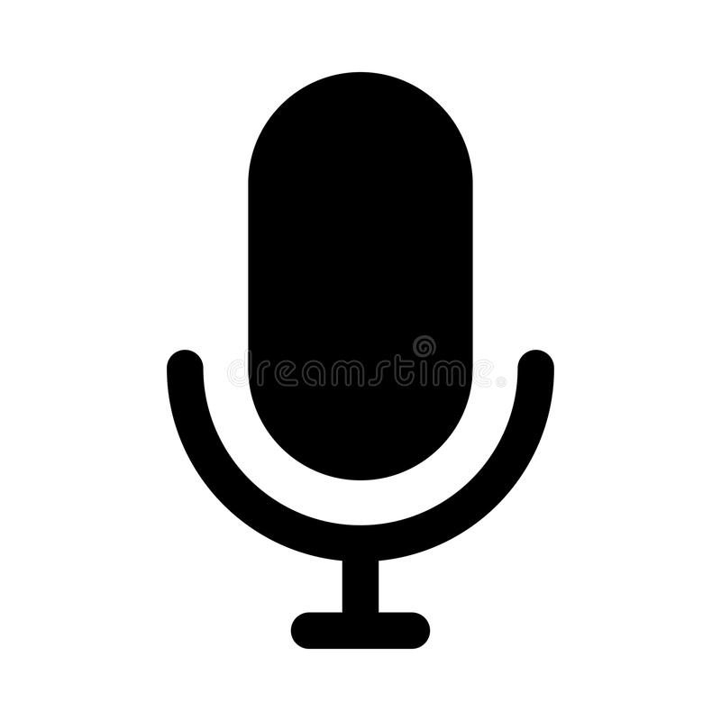 Voice recorder icon. Voice recorder glyph line icon royalty free illustration