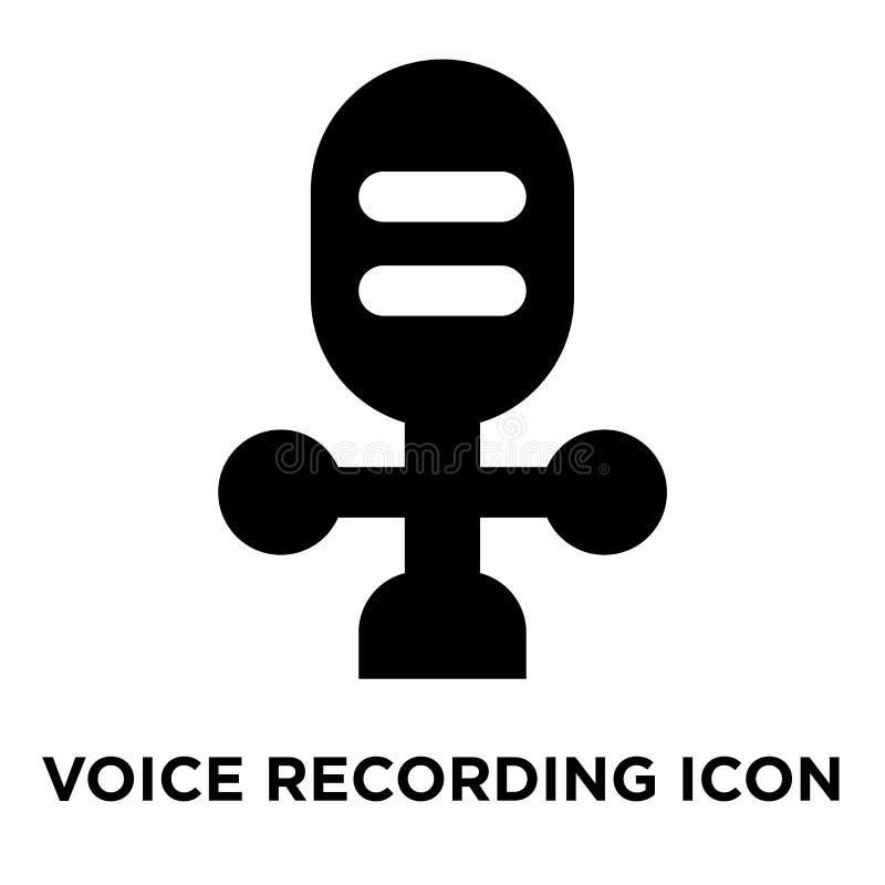 Voice recording icon vector isolated on white background, logo c royalty free illustration