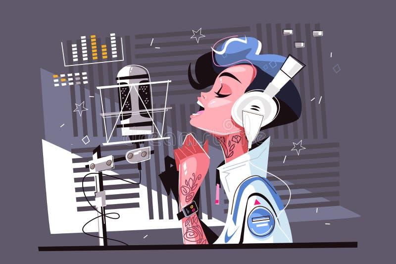 Voice recording studio royalty free illustration