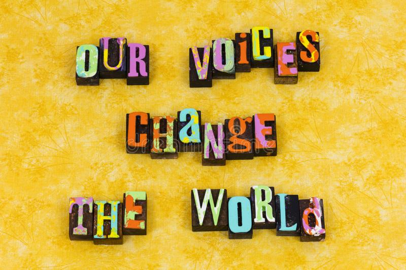 Voices change world leadership education royalty free illustration