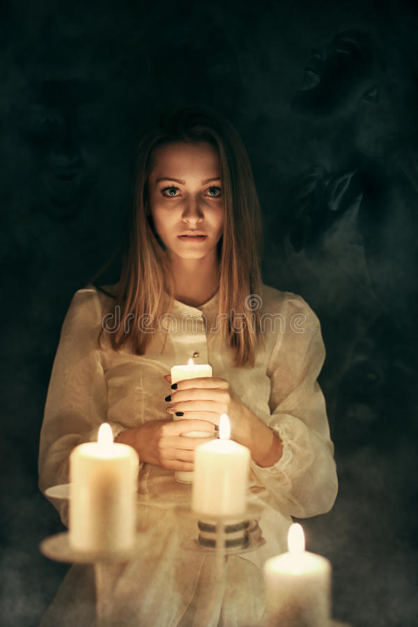 Voices of the dead in the dark royalty free stock photography