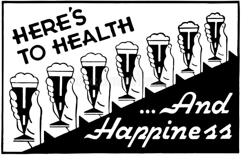 Voici à la santé 2 illustration libre de droits