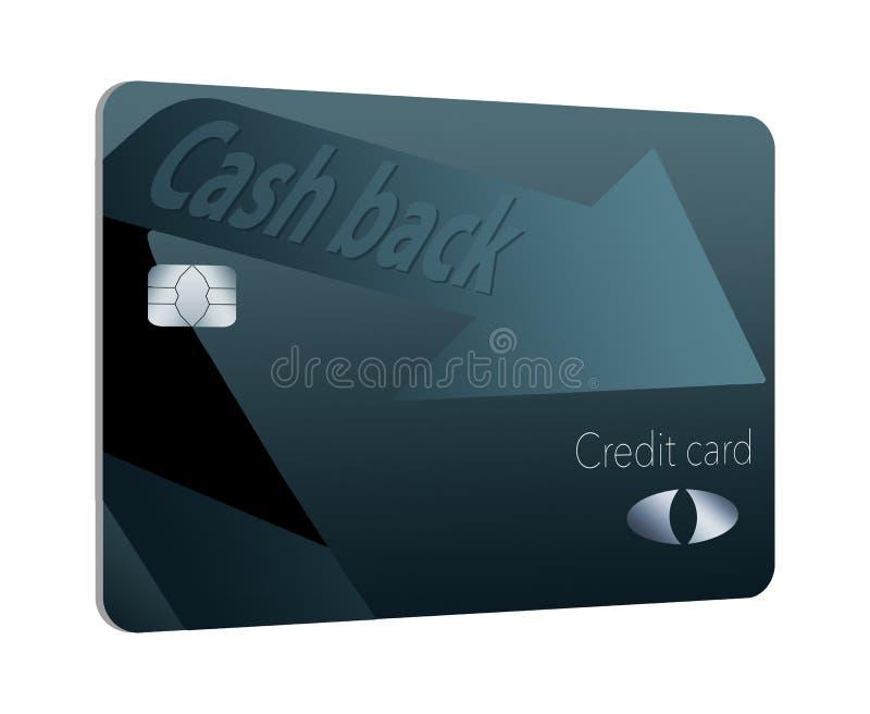 Voici un argent liquide de retour récompense la carte de crédit illustration stock