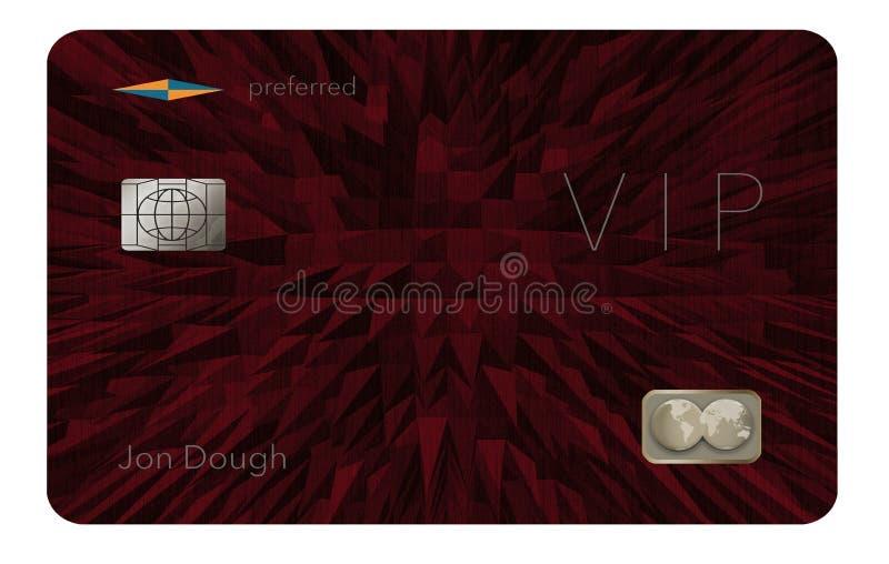 Voici un VIP ou une carte de crédit préférée de client illustration de vecteur