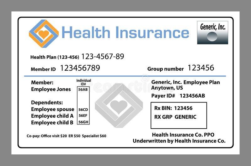 Voici une assurance-maladie générique, assurance de soins de santé illustration libre de droits