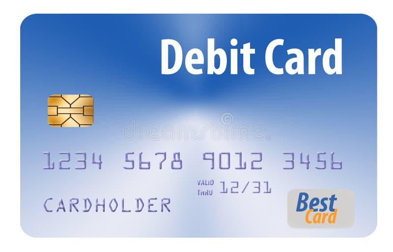 Voici une carte bancaire générique d'isolement sur un fond blanc illustration stock