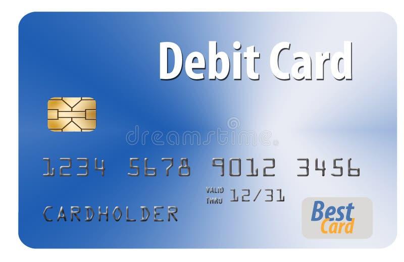 Voici une carte bancaire générique d'isolement sur un fond blanc illustration de vecteur