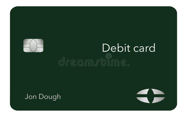 Voici une carte bancaire moderne et élégante C'est une illustration et est faux et générique pour éviter tous les problèmes avec  illustration de vecteur