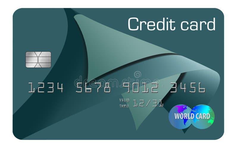 Voici une carte de crédit générique d'isolement sur le fond illustration stock