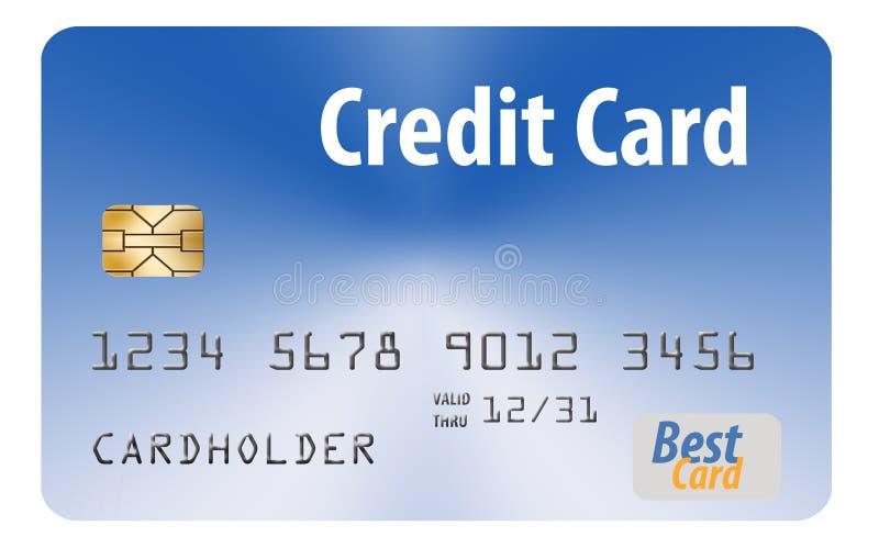 Voici une carte de crédit générique d'isolement sur le fond de blanc d'Al illustration libre de droits