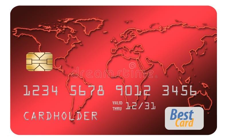 Voici une carte de crédit générique d'isolement sur le fond de blanc d'Al illustration de vecteur