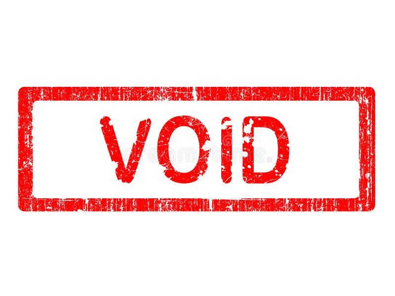 void för grungekontorsstämpel stock illustrationer