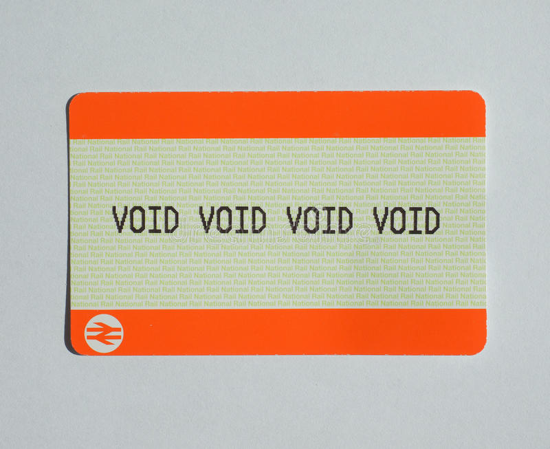 Download Void Ticket Editorial Photo Image Of Britain Transportation
