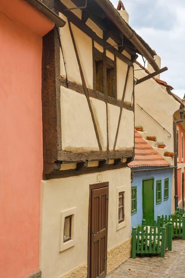 Voie d'or à Prague images libres de droits