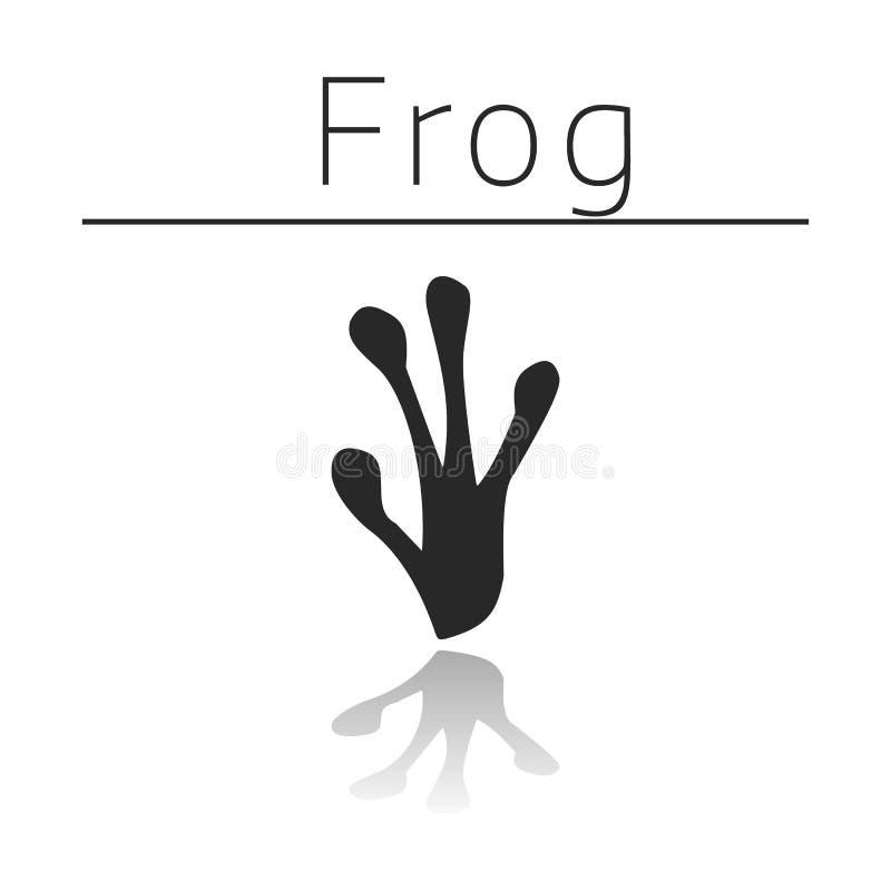 Voie d'animal de grenouille illustration libre de droits
