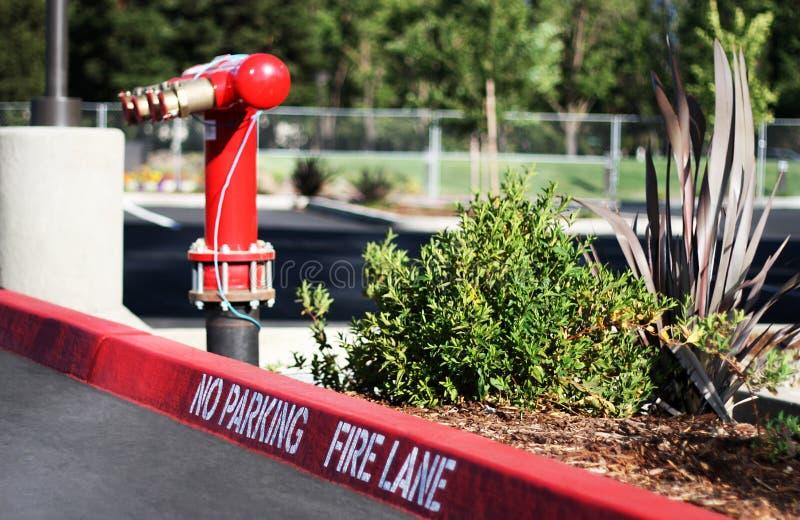 Voie d'incendie image libre de droits