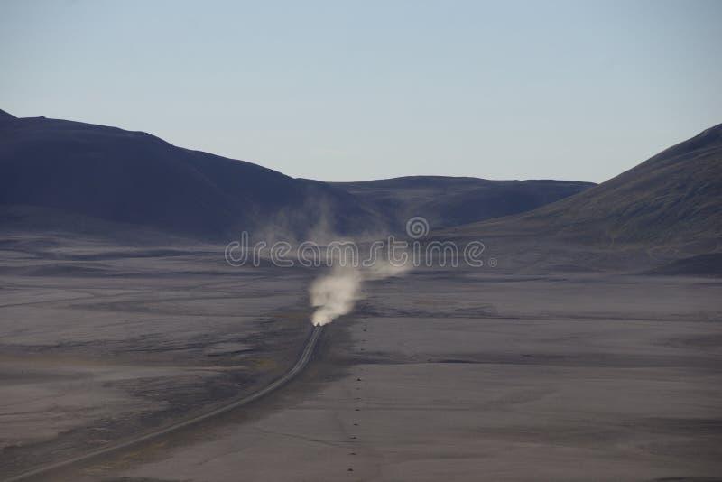 Voie de cendre de l'Islande au centre de l'île photo libre de droits