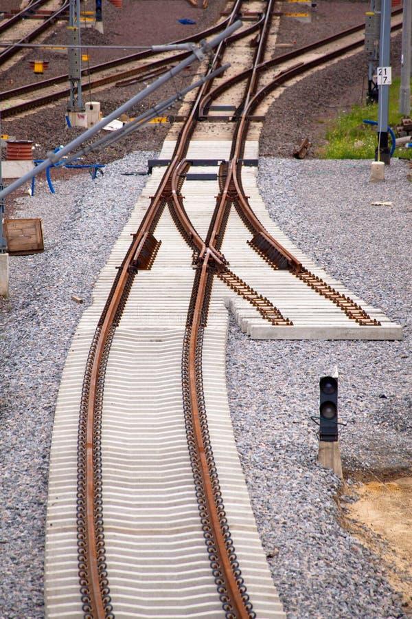 Voie de chemin de fer photos libres de droits