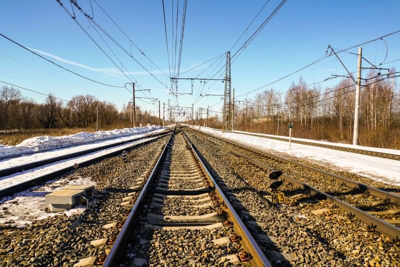 Voie de chemin de fer sans couture de velours photographie stock