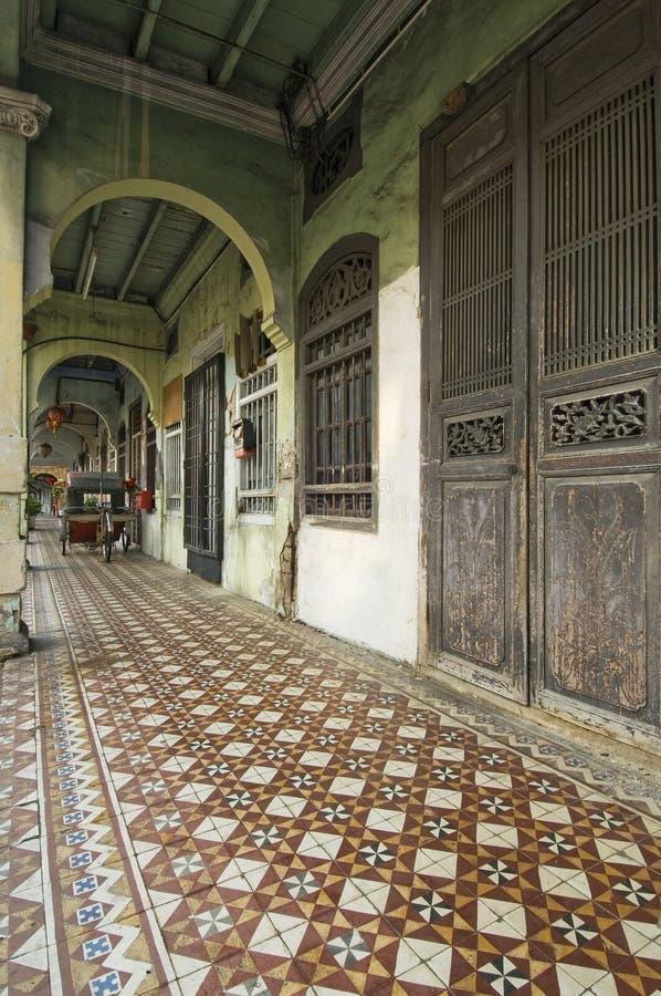 Voie de cinq pieds, George Town, Penang, Malaisie images stock