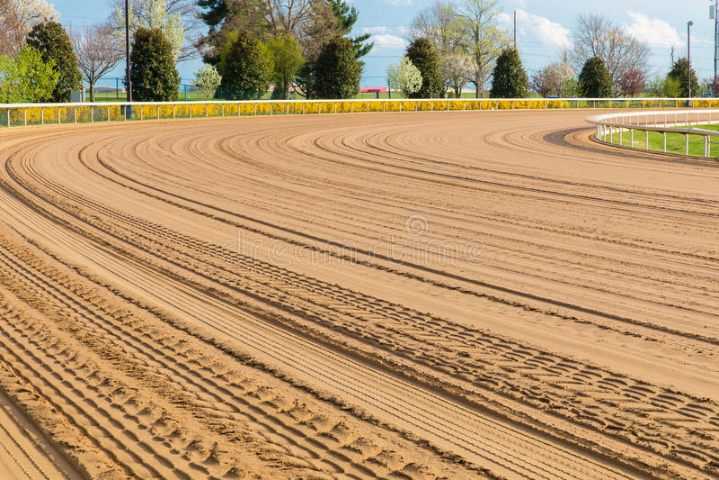 Voie de course de cheval photos libres de droits