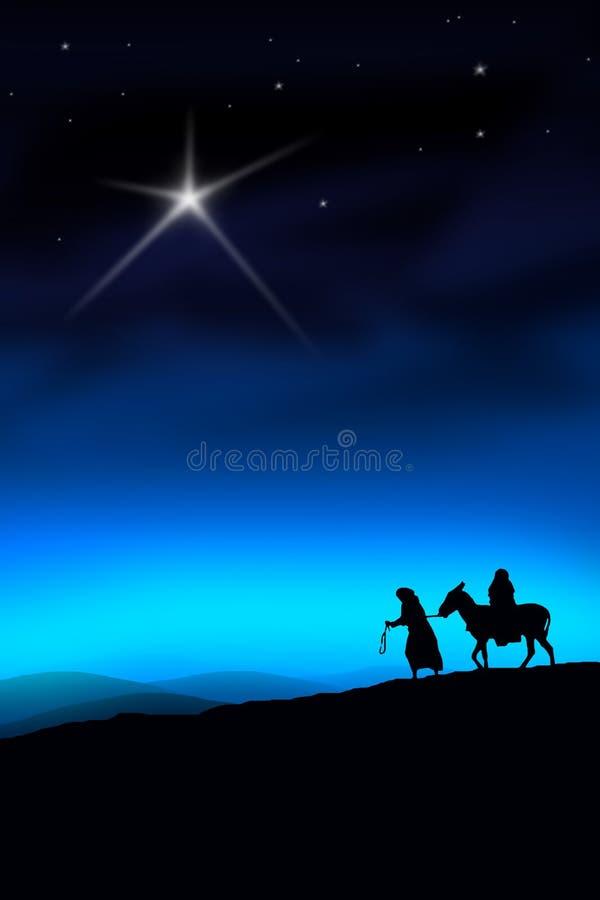 voie de Noël illustration stock