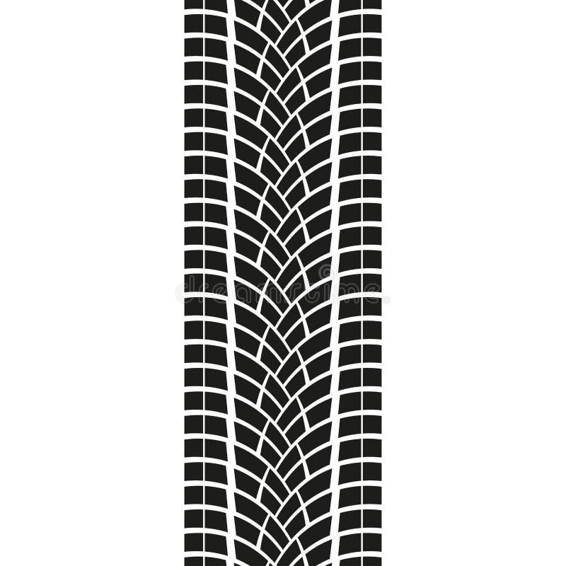 Voie de pneu d'isolement sur le fond blanc Copie de pneu Illustration de vecteur illustration de vecteur