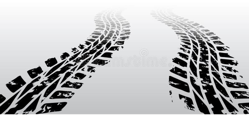 Voie de pneu de zigzag illustration stock