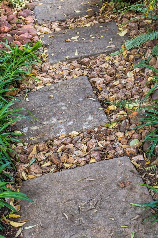 Voie de promenade de mystère par un jardin photographie stock libre de droits