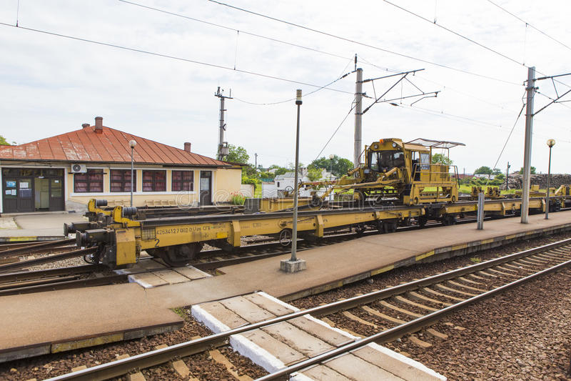 Voie de réparation de chemin de fer images stock