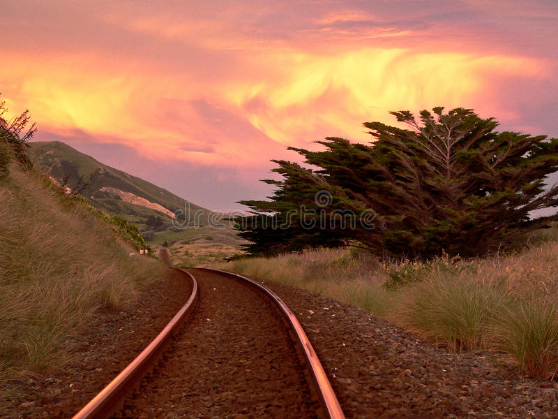 Voie ferrée de la Nouvelle Zélande photos libres de droits