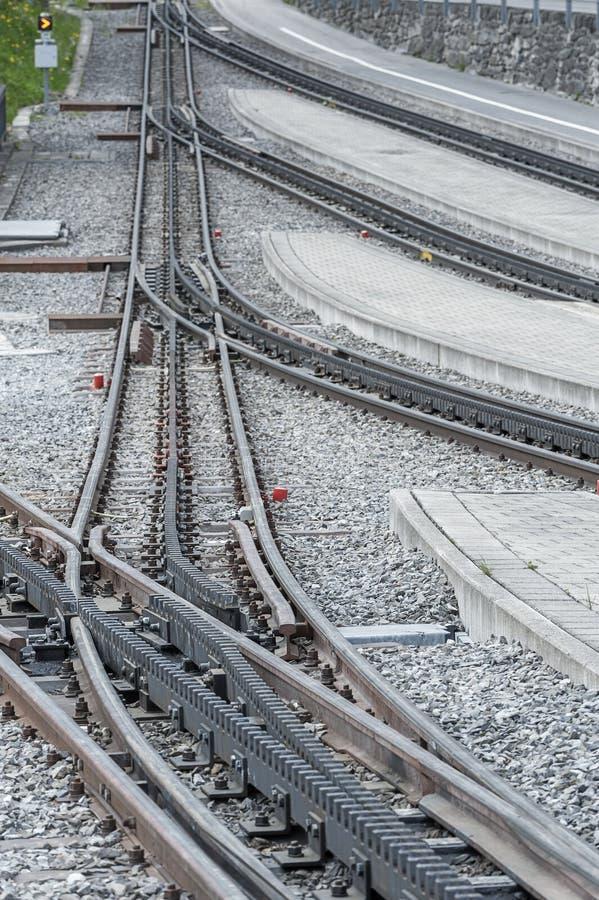 Voie ferroviaire photo libre de droits