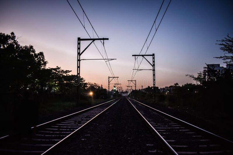 Voie ferroviaire de chemin de fer de rail photo libre de droits