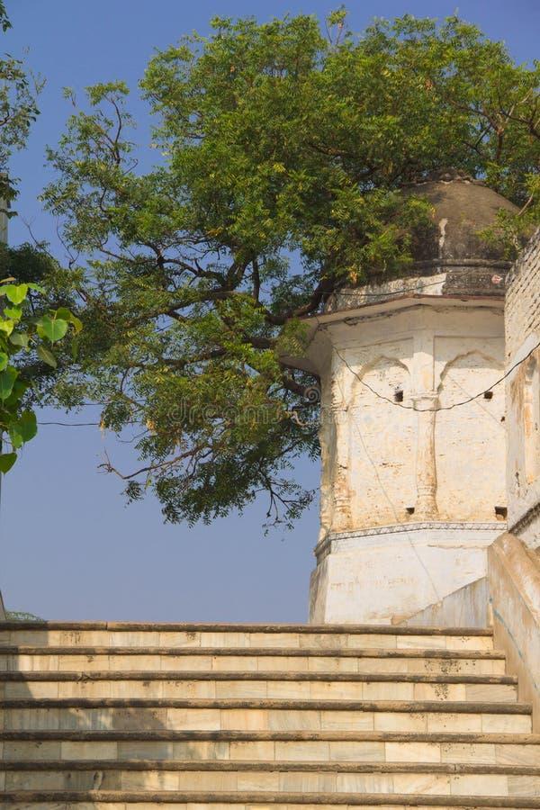 Voie indienne typique dans la ville antique image libre de droits
