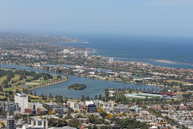 Voie Melbourne de Formule 1 image stock