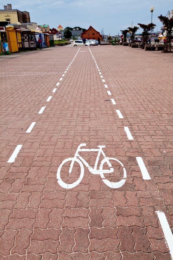 Download Voie pour bicyclettes image stock. Image du lignes, sécurité - 77160053