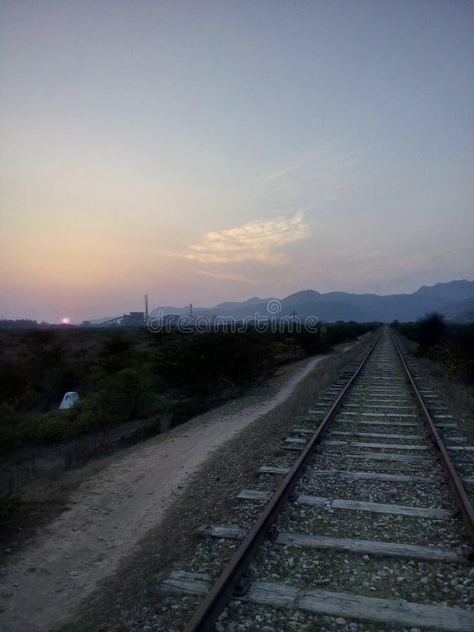 voie railwy images libres de droits