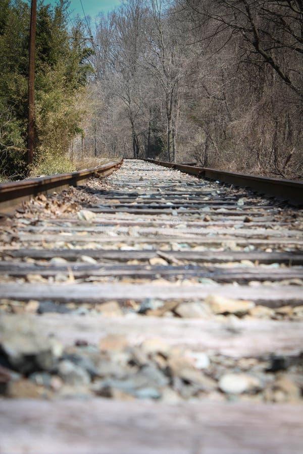 Voies abandonnées de train photographie stock