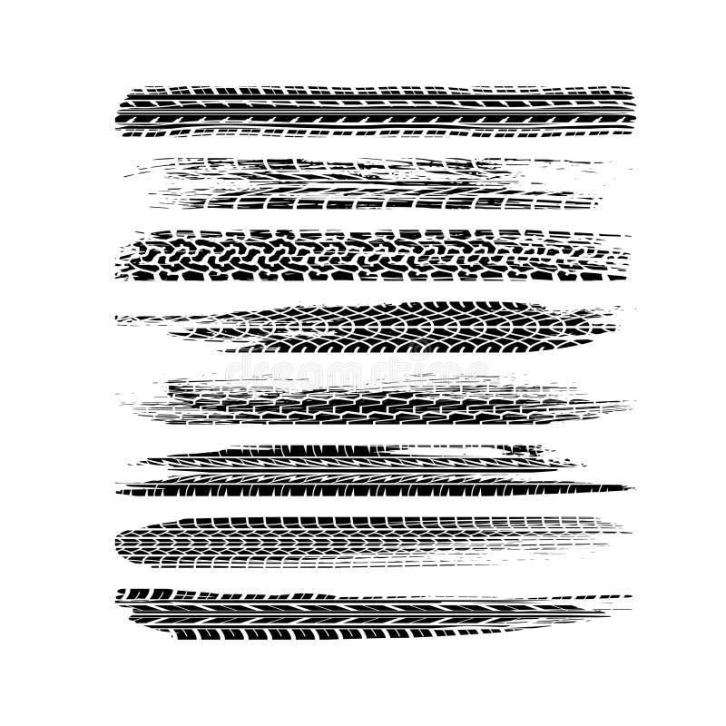 Voies balayées de pneu illustration de vecteur