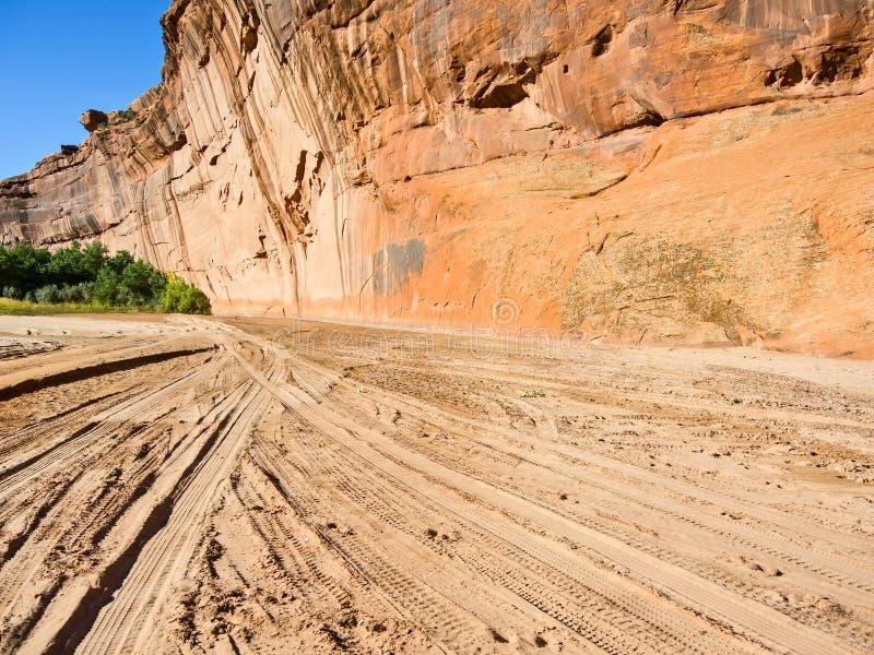 Voies de Canyon de Chelly Jeep photos stock
