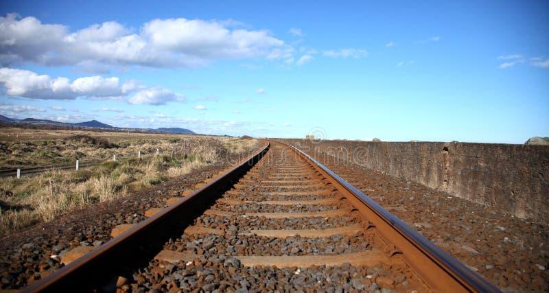 Voies de chemin de fer. images libres de droits