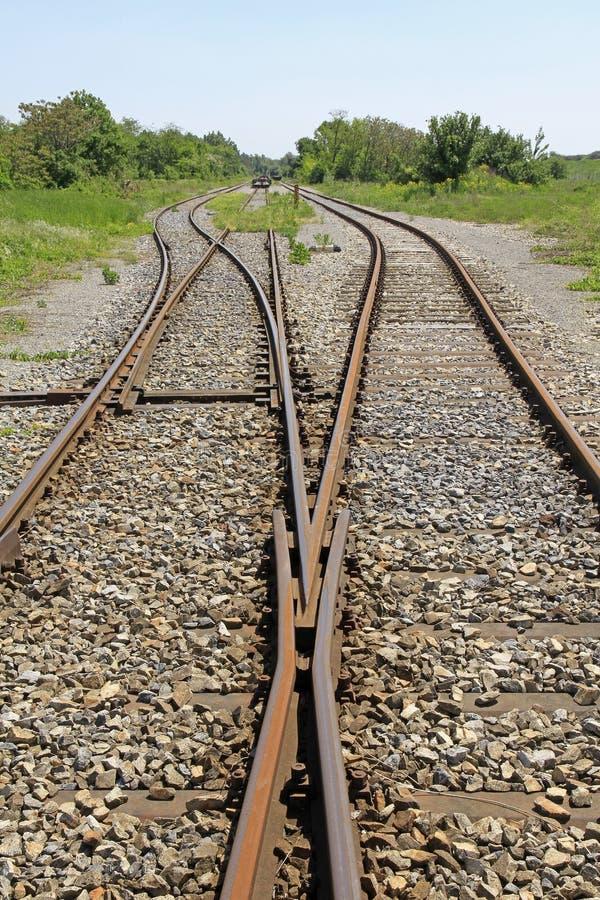 Voies de chemin de fer photographie stock