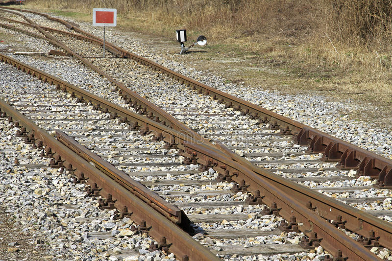 Voies de chemin de fer images libres de droits