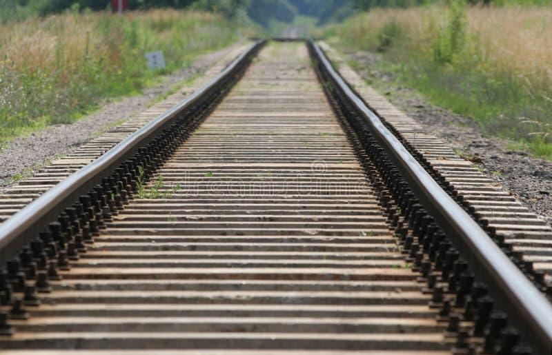 Voies de chemin de fer photo libre de droits