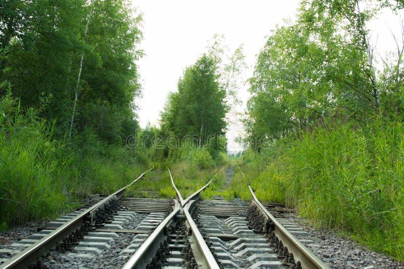 Voies de chemin de fer vides images stock