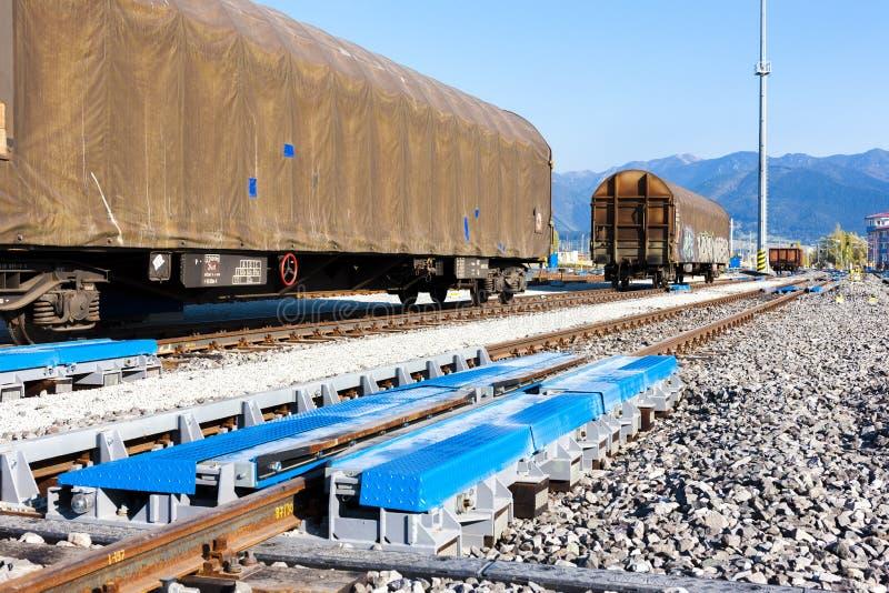 Voies de chemin de fer vides photos libres de droits
