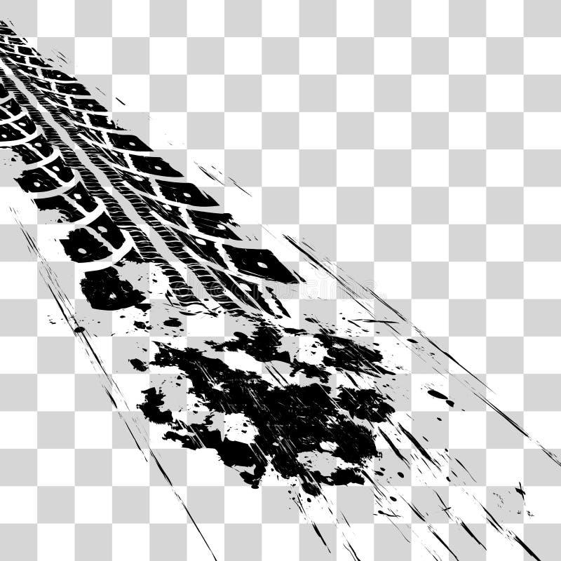 Voies de pneu illustration de vecteur