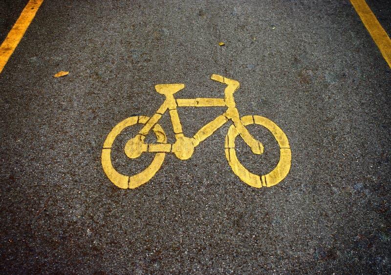 Voies de vélo, symbole de bicyclette photo libre de droits